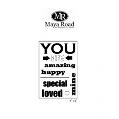 Maya Road You Are Singleton Clear Stamps