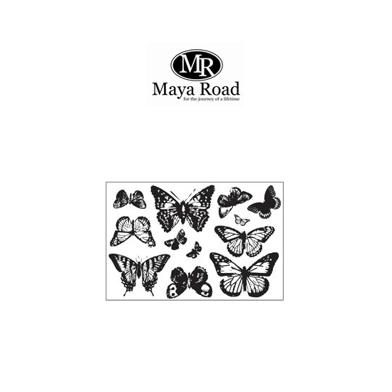 Maya Road Ornate Vintage Butterflies Clear Stamps