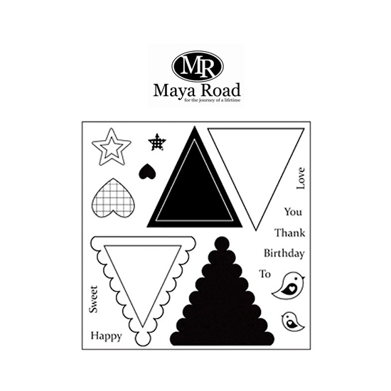 Maya Road Mini Triangle Banner Clear Stamps