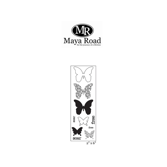 Maya Road Soar Butterflies Strip Stamps