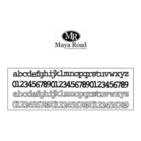 Maya Road Font-ly Yours Border Strip Stamps