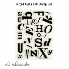 Ali Edwards Mixed Alpha 6 x 8 Clear Stamps