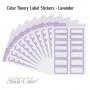 Studio Calico Color Theory Label Stickers Lavender Soda