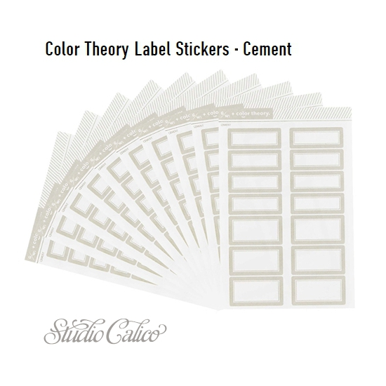 Studio Calico Color Theory Label Stickers Cement