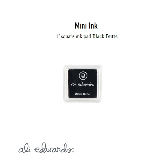 Ali Edwards Mini Block Ink Pad Black Butte
