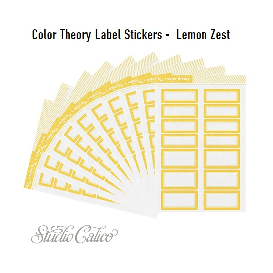 Studio Calico Color Theory Label Stickers Lemon Zest