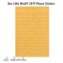 Ali Edwards One Little Word 2019 Phrase Stickers Yellow|Orange