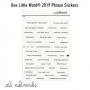 Ali Edwards One Little Word 2019 Phrase Stickers White