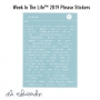 Ali Edwards Week In The Life Phrase Stickers Blue