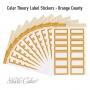Studio Calico Color Theory Label Stickers Orange County
