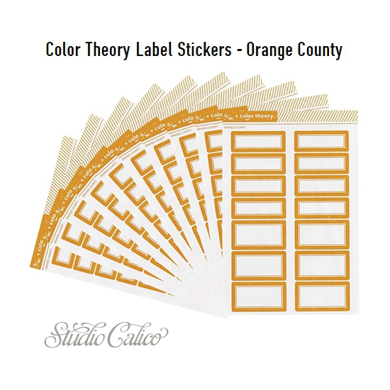 Studio Calico Color Theory Label Stickers Orange County
