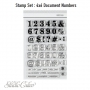 Studio Calico Document Numbers Clear Stamps