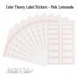 Studio Calico Color Theory Label Stickers Pink Lemonade