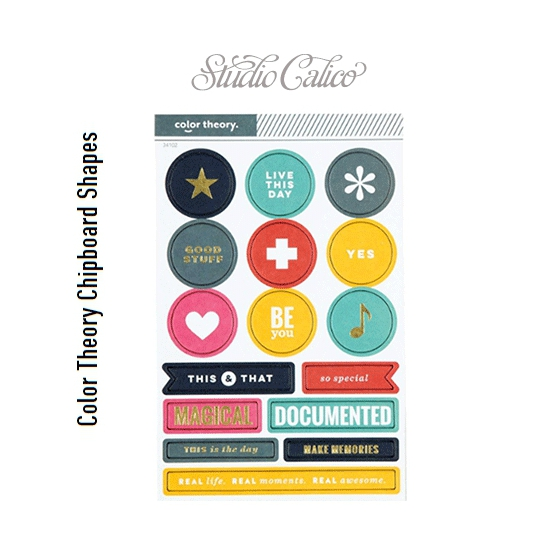 Studio Calico Color Theory Chipboard Sticker Shapes