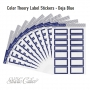Studio Calico Color Theory Label Stickers Deja Blue