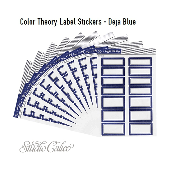 Studio Calico Color Theory Label Stickers Deja Blue