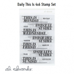 Ali Edwards Daily This Is Clear Stamps