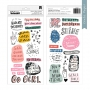 Crate Paper Thickers Phrases and Icons Glossy Puffy Stickers Dreamer All Heart Collection