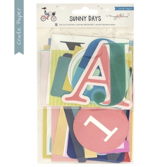 Crate Paper Die Cuts Alpha and Number Cardstock and Acetate Sunny Days Collection by Maggie Holmes
