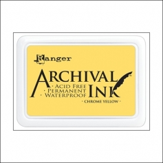 Ranger Archival Ink Pad Chrome Yellow