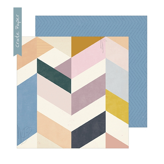 Crate Paper Patterned Paper Sheet Library Heritage Collection by Maggie Holmes