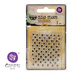 Prima Marketing Mini Clear Stamp Offset Dots by Finnabair