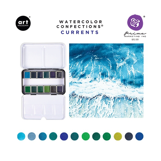 Prima Marketing Art Philosophy Watercolor Confections Currents