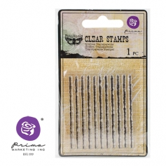 Prima Marketing Mini Clear Stamp Jagged Lines by Finnabair