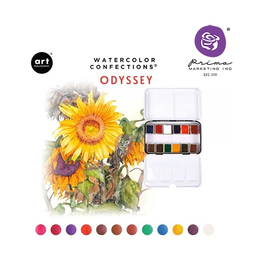 Prima Marketing Art Philosophy Watercolor Confections Odyssey