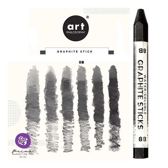 Prima Marketing Art Philosophy Water-Soluble Graphite Stick Softness 8B