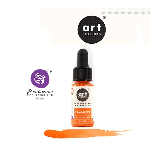 Prima Marketing Art Philosophy Concentrated Watercolor 0.5 fl. oz | 15 ml Tangerine