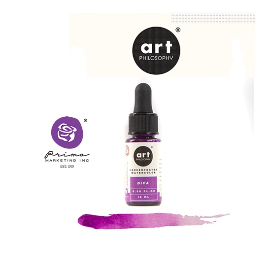 Prima Marketing Art Philosophy Concentrated Watercolor 0.5 fl. oz | 15 ml Diva