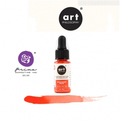 Prima Marketing Art Philosophy Concentrated Watercolor 0.5 fl. oz | 15 ml Orange Red