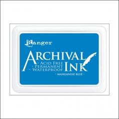 Ranger Archival Ink Pad Manganese Blue