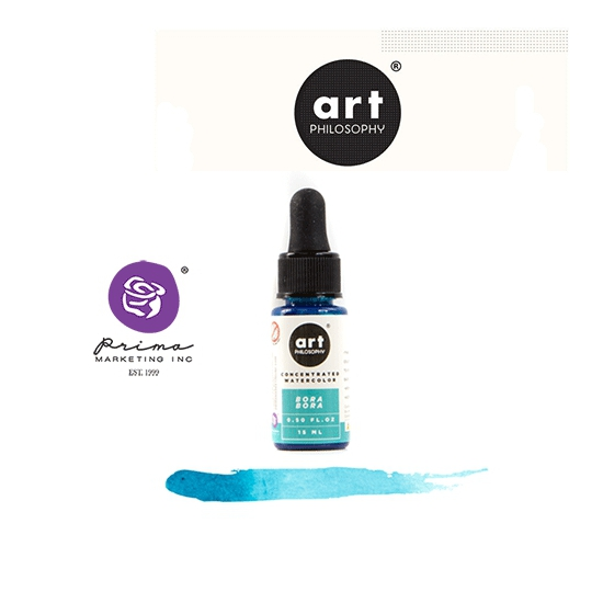 Prima Marketing Art Philosophy Concentrated Watercolor 0.5 fl. oz | 15 ml Bora Bora