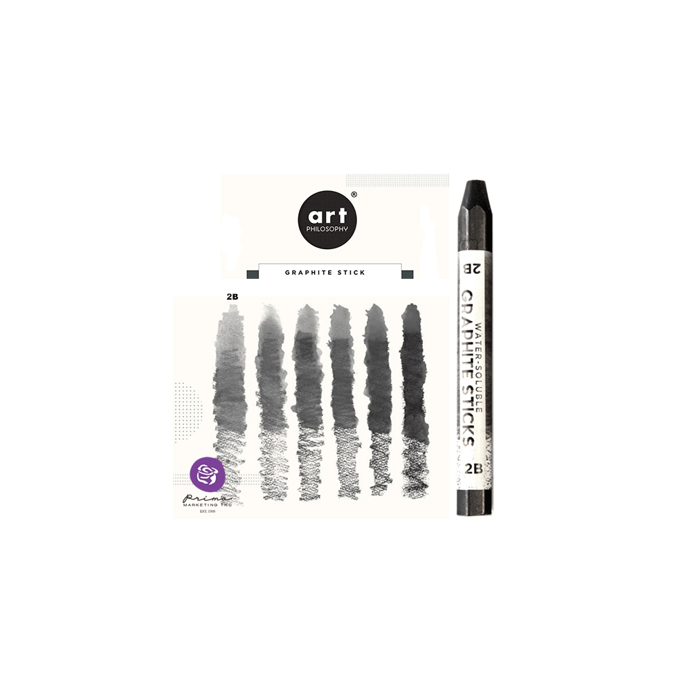Prima Marketing Art Philosophy Water-Soluble Graphite Stick Softness 2B