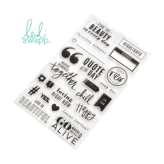 Heidi Swapp Acrylic Stamp Set Color Fresh Collection