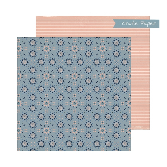 Crate Paper Patterned Paper Sheet Grandma Heritage Collection by Maggie Holmes