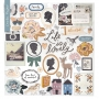 Crate Paper 12 x 12 Chipboard Stickers Heritage Collection by Maggie Holmes