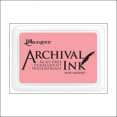Ranger Archival Ink Pad Rose Madder