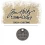 Tim Holtz Idea-ology Christmas Metal Typed Token Antique Nickel Winter Wishes