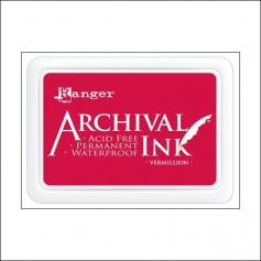 Ranger Archival Ink Pad Vermillion