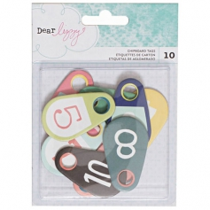 American Crafts Chipboard Tags Dear Lizzy Saturday Collection