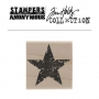 Tim Holtz | Stampers Anonymous Wood Mounted Red Rubber Stamp Star Silhouette