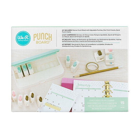We R Memory Keepers Planner Punch Board Bundle