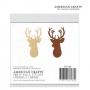 American Crafts Bits Wood Veneer Deer Christmas