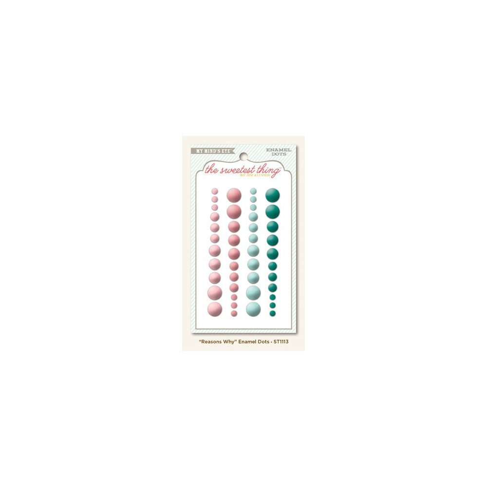 My Minds Eye Enamel Dots Lavender Reasons Why The Sweetest Thing Collection by Jen Allyson