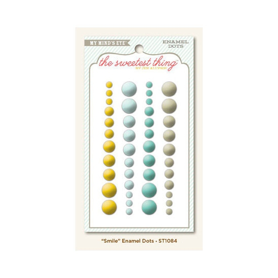 My Minds Eye Enamel Dots Bluebell Smile The Sweetest Thing Collection by Jen Allyson