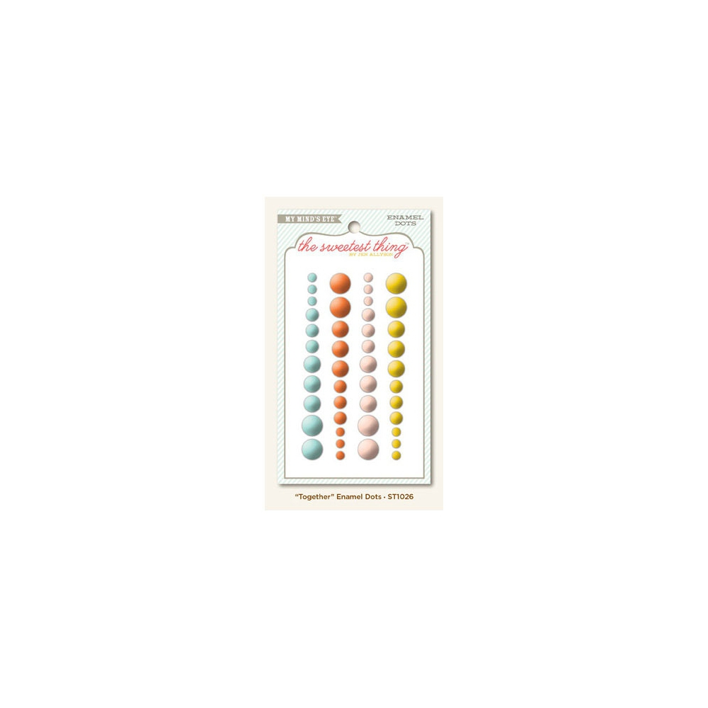 My Minds Eye Enamel Dots Tangerine Together The Sweetest Thing Collection by Jen Allyson