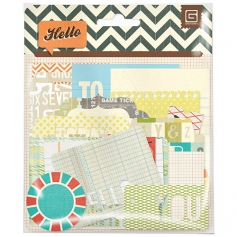 Basic Grey Journaling Die Cuts Hello Collection